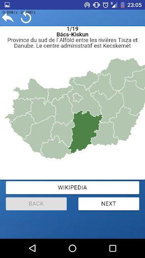Comitats de Hongrie - quiz,tests,cartes,drapeaux APK MOD (Astuce) screenshots 5