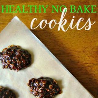 Healthy No Bake Oatmeal Cookie.