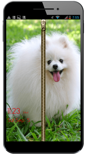 Puppy Dogs zipper screen lock