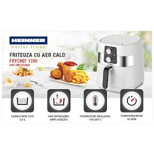 Friteuza cu aer cald, Air Fryer Heinner, Capacitate 4L, 1300W