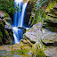 Blue Falls by John Goff - Landscapes Waterscapes ( mountain, seven, devils, carolina, water falls, north )