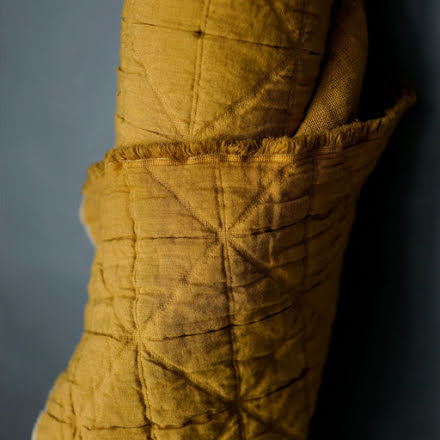 Laine Mustard Jacquard Cotton