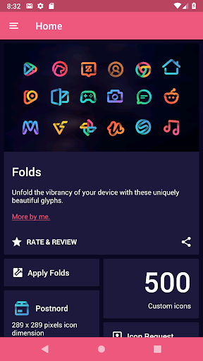 Screenshot for Folds - Icon Pack in United States Play Store
