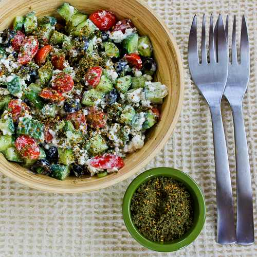 Effie'S Easy and Amazing Cottage Cheese Salad with Za'Atar Recipe