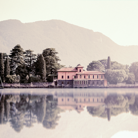 Isola di San Paolo - Lago Iseo - Italy by Erik Pettinari - Landscapes Waterscapes ( reflection, sunset, lake, tramonto, landscape, italy )