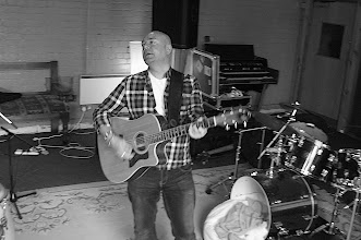 Photo: Rehearsing song before recording. yellow Arch Recording studio Sheffield.