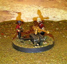 Photo: 15mm Old Glory 15 colonials, and kit bashed gun.