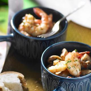 Garlic Chili Shrimp with Mushrooms.