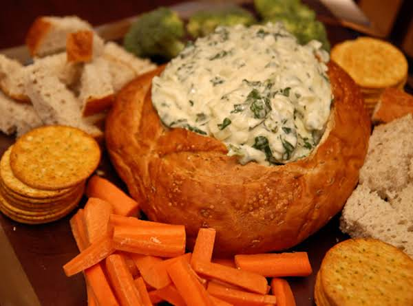 how to prepare a bread bowl for dip