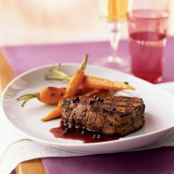 Filet Mignon With Red Currant And Merlot Sauce Recipe