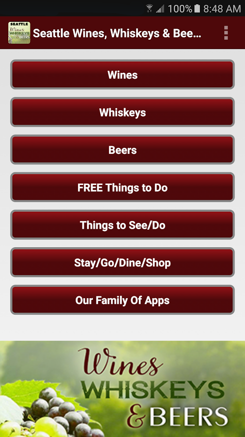 Seattle's Wines, Whiskeys, & Craft Beers- screenshot