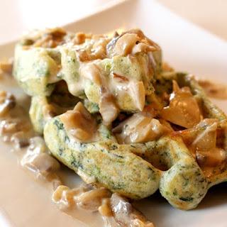 Spinach & Feta Waffles
