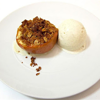 Baked Apples With Olive Oil Crumble Top.