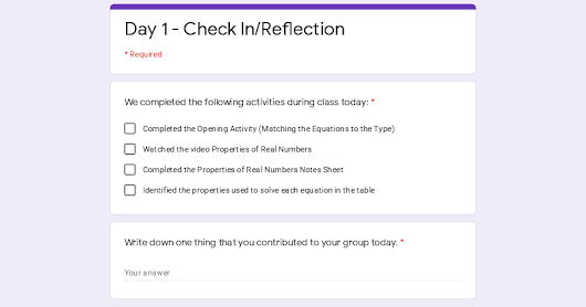 Day 1 - Check In/Reflection