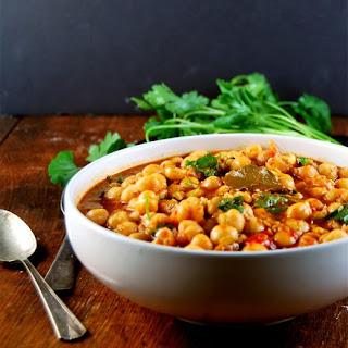 Vegan Lebanese Chickpea Stew.