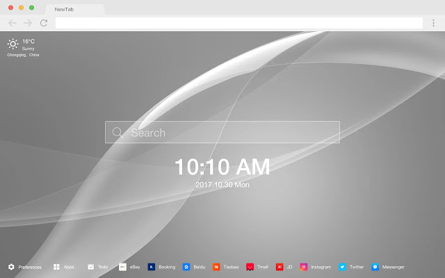 Color New Tab Page HD Pop Colors Theme