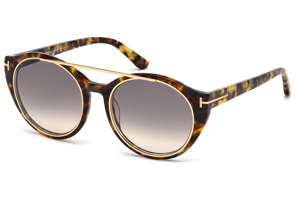feb0c2721a1c Sunglasses Tom Ford Joan FT0383 C52 56B (havana other   gradient smoke)