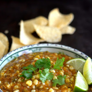 Fire Roasted Tomatillo & Corn Salsa Recipe