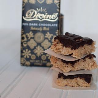 Peanut Butter Rice Krispie Treats with Chocolate