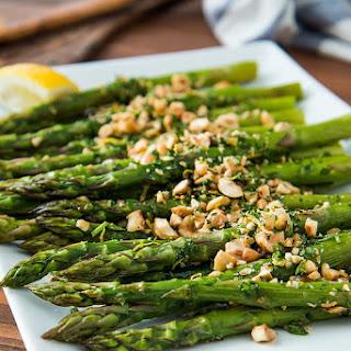 Roasted Asparagus with Hazelnut Gremolata Recipe