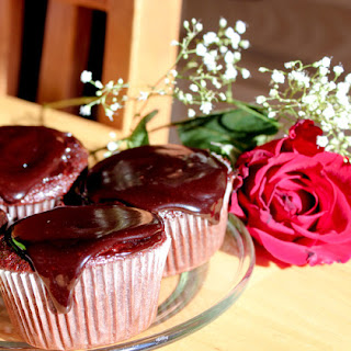 Triple Chocolate Cupcakes with Chocolate Ganache.