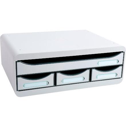 Box Exacompta 4lådor grå