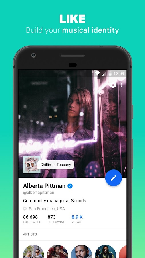 Sounds app - Music and Friends- screenshot