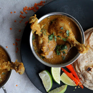 Bombay-Style Chicken with Red Split Lentils