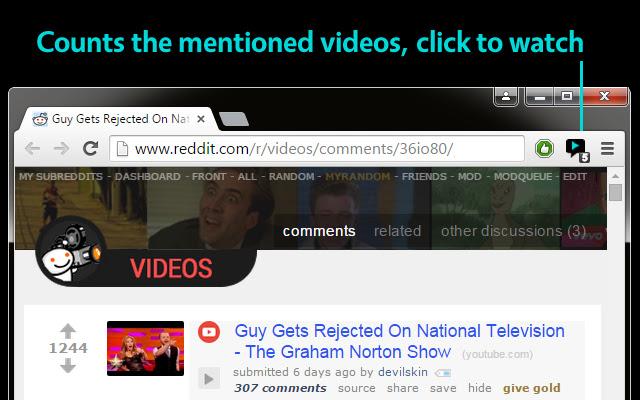 Mentioned Videos for Reddit