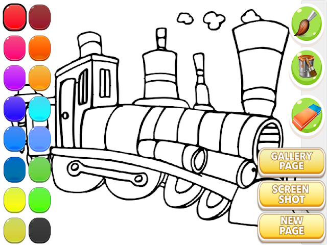 android Train Coloring Book Screenshot 8