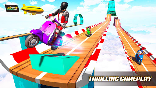 Télécharger Gratuit Scooter Stunt Game: GT Racing Impossible Tracks APK MOD (Astuce) screenshots 1