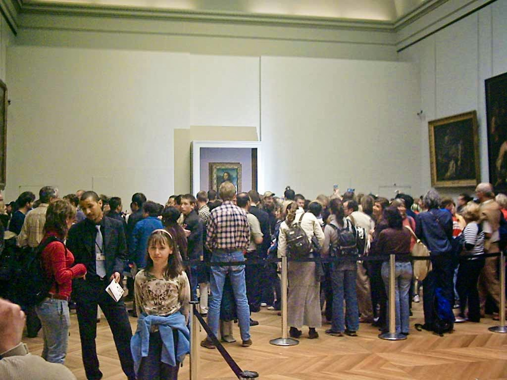 Photo: The Mona Lisa room. She had only recently been returned from restoration.
