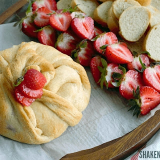 Strawberry Jalapeño Baked Brie