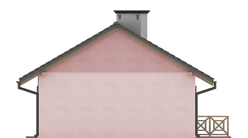 G196 - Budynek rekreacyjny z sauną - Elewacja tylna