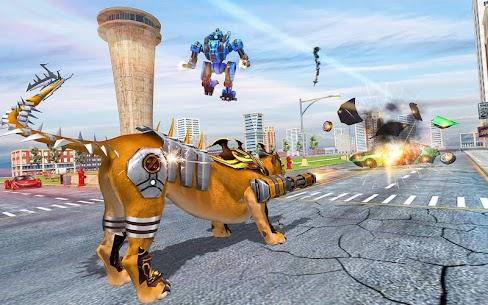 Lion Robot Car: Futuristic Robot Transformation 2