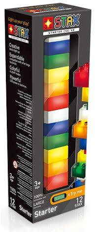 LED Light Stax Bas Junior Startpaket - 12delar Byggklossar