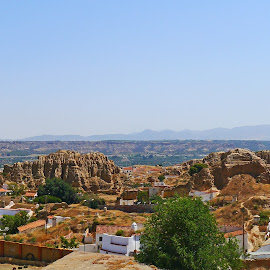 Paysage from Andalucia I by Joatan Berbel - City,  Street & Park  Vistas ( landscapes, guadix, spain, color, andalucia, cityscape, paysage, vistas )