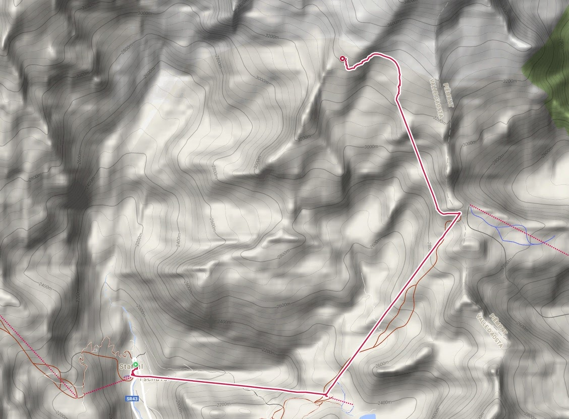 De route van vandaag
