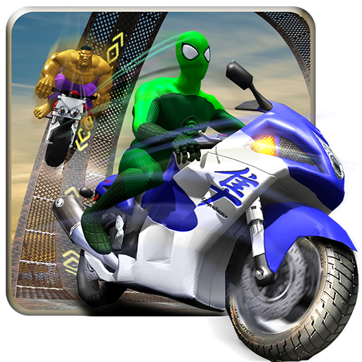 Flying Spider Boy Bike Rider: Impossible Tracks