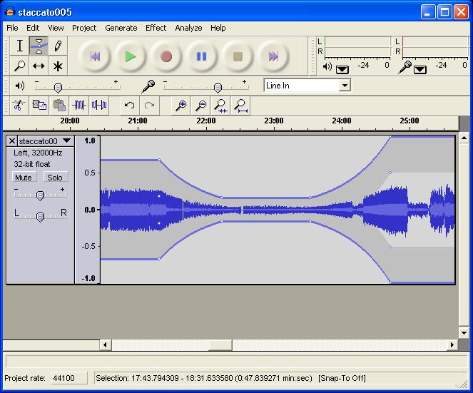 오디오 녹음 및 편집 툴, Audacity