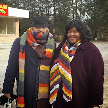 Photo: Kalonji and I in our scarves