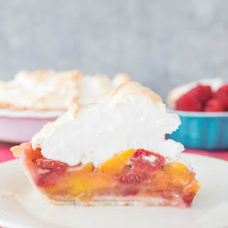 Raspberry Peach Meringue Pie.