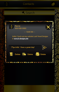 Black and Gold GOSMS PRO Theme- screenshot thumbnail
