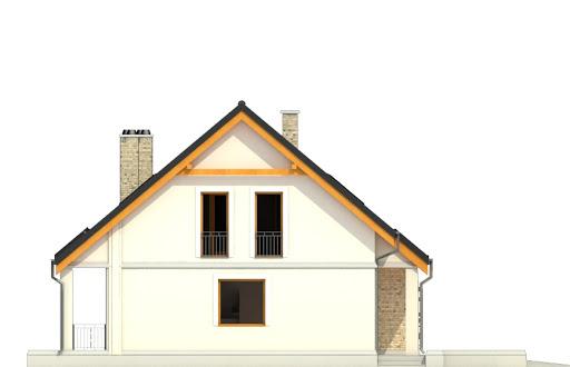 Alka z garażem 1-st. bliźniak A-BL1 - Elewacja lewa