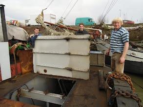 Photo: Januari 2012  Stuk uit dek van de bok