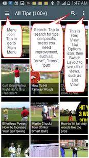 Golf Tips Quick screenshot