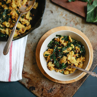 Chickpea Spätzle With Shallots And Collard Greens