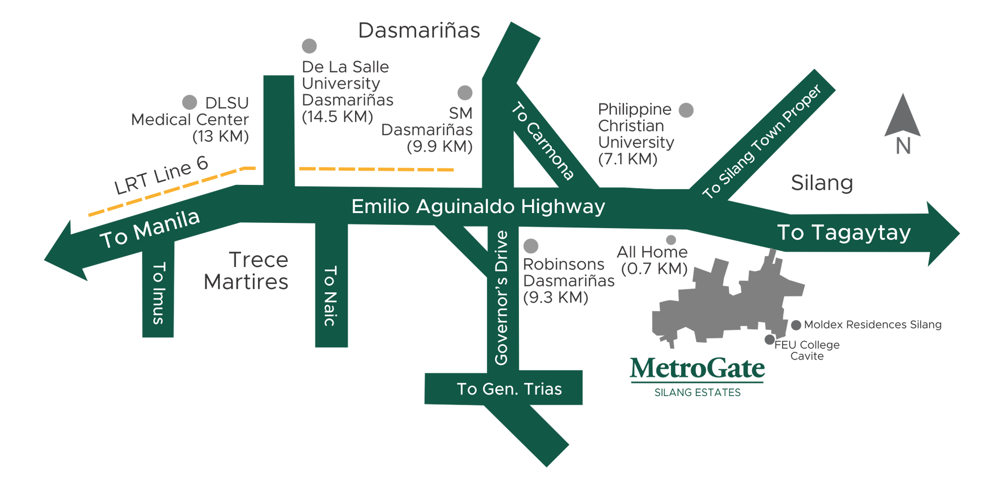 Metrogate Silang Estates location map