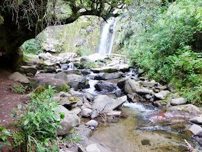 Photo: First view of Taxopamba Falls