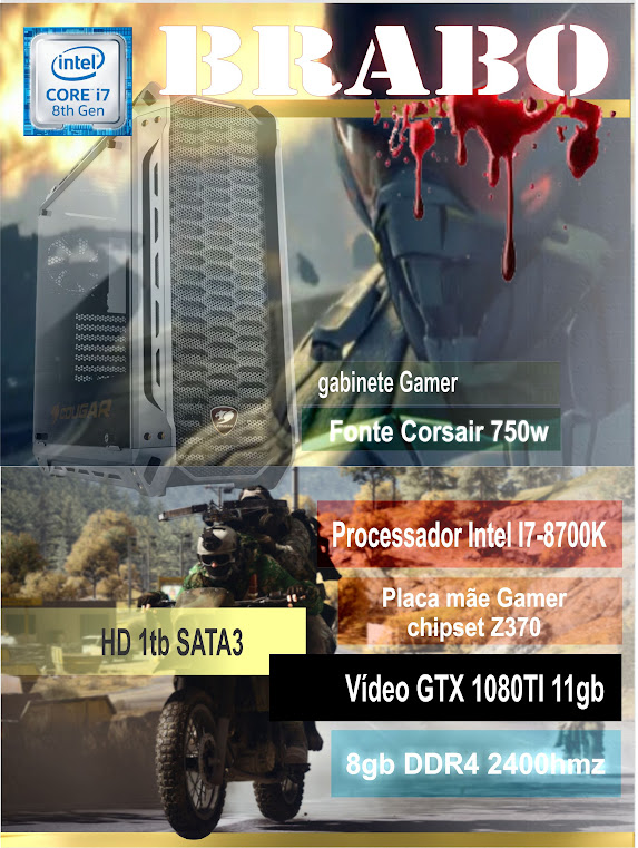 CPU Gamer Brabo - i7-8700k